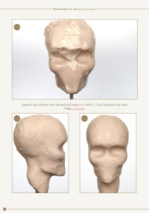 Spread Clay Softener Over the Skull